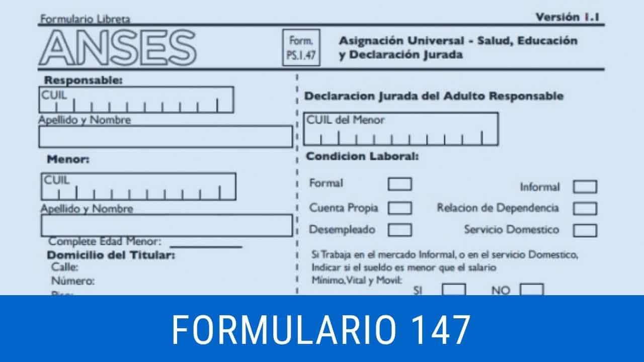 descargar formulario 147 asignacion universal por hijo