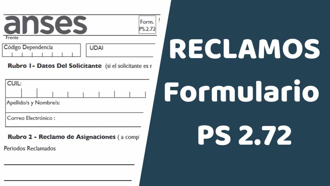 Descargar Formulario PS 2.72