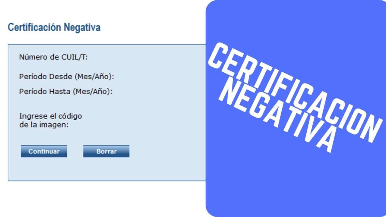 btener la Certificación Negativa