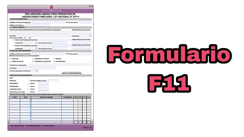 descargar el formulario f11 de ANSES