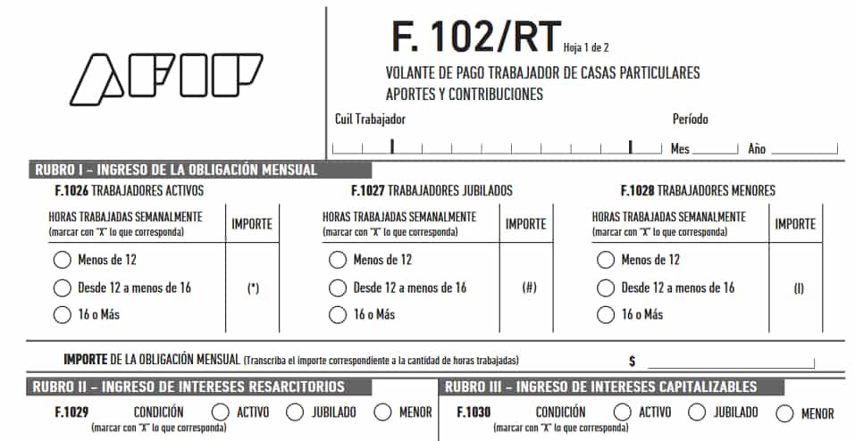 DESCARGAR Formulario 102 RT