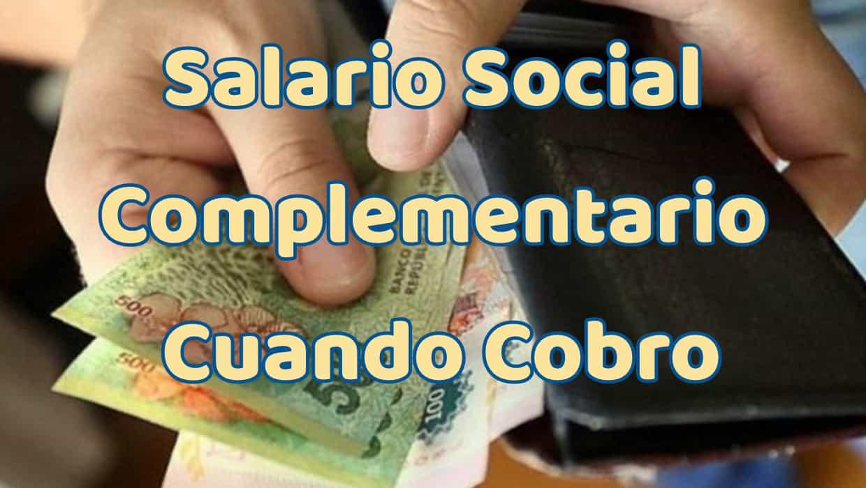 Salario Social Complementario Fecha de Pago