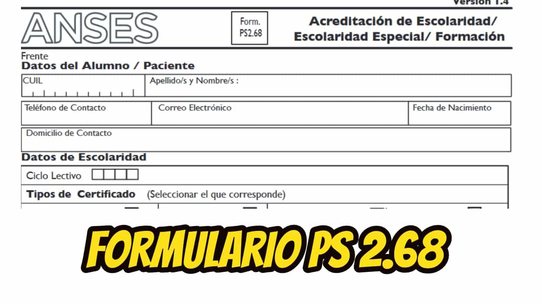 Formulario 2.68 para Imprimir