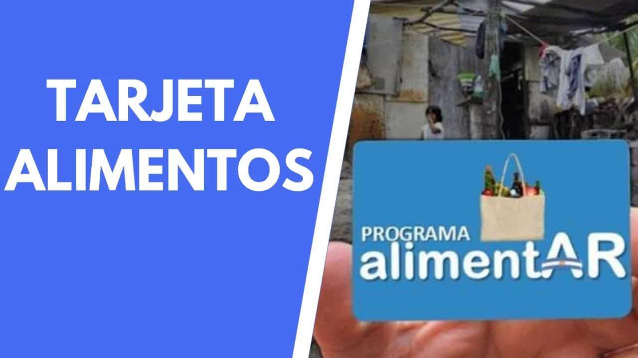 tarjeta alimentaria programa alimentar