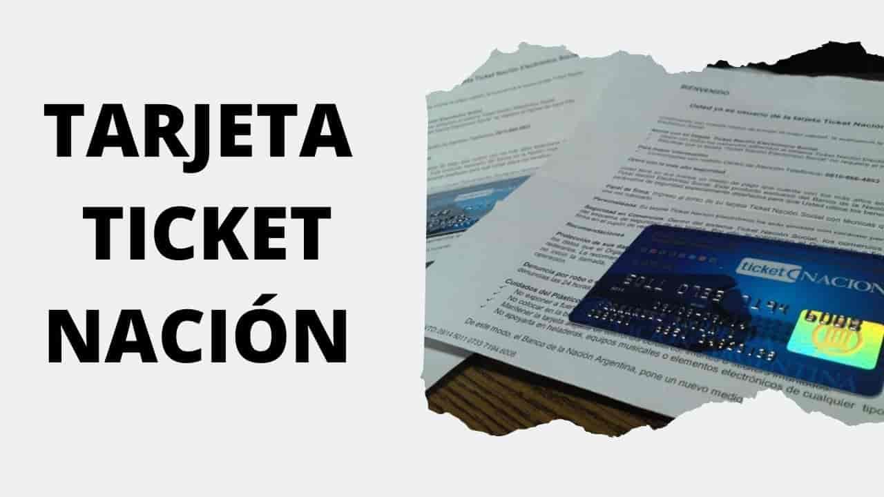 saldo Tarjeta Ticket Nación