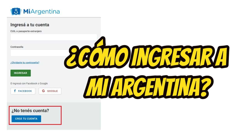 como ingresar en mi argentina