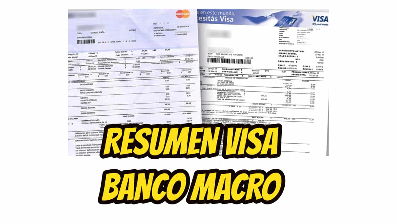 ver resumen tarjeta visa banco macro