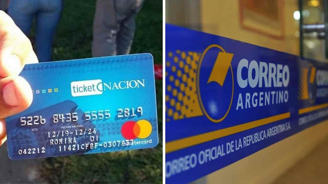 entrega de tarjeta alimentaria por correo argentino