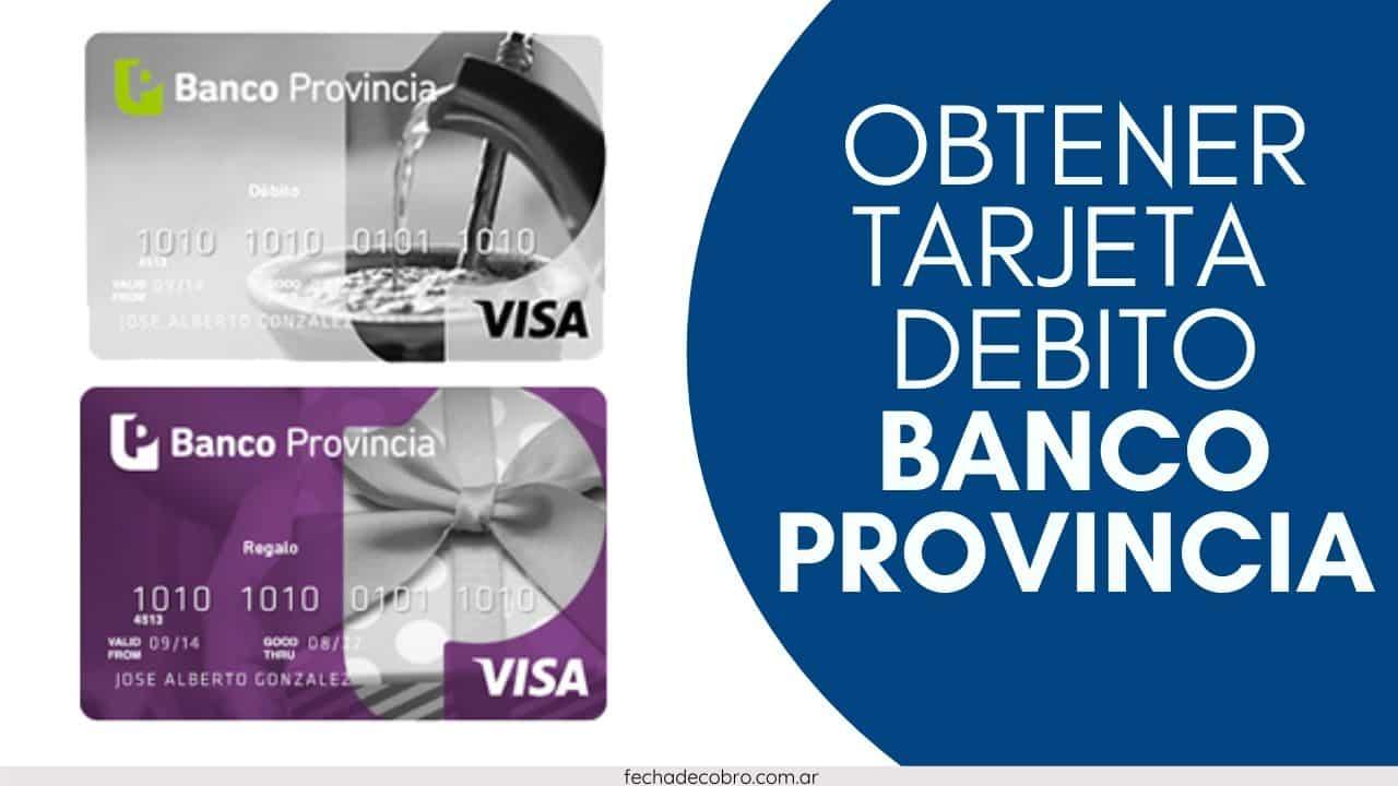 solicitar tarjeta banco provincia