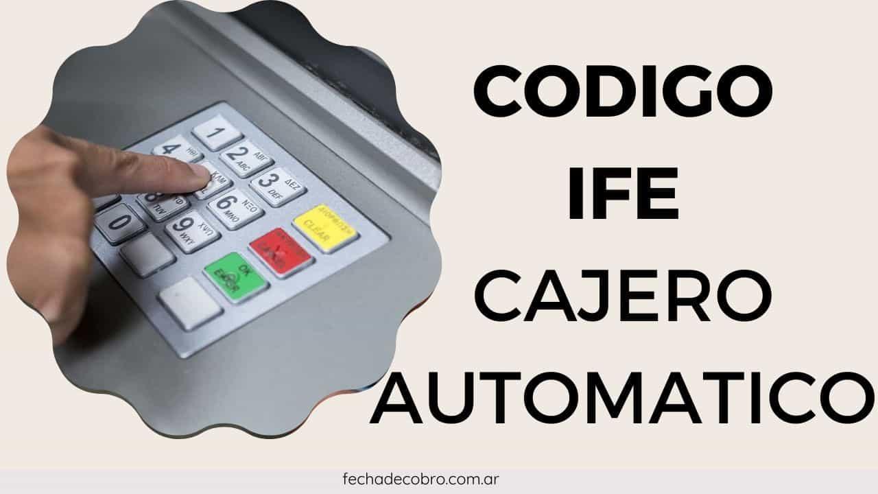codigo IFE