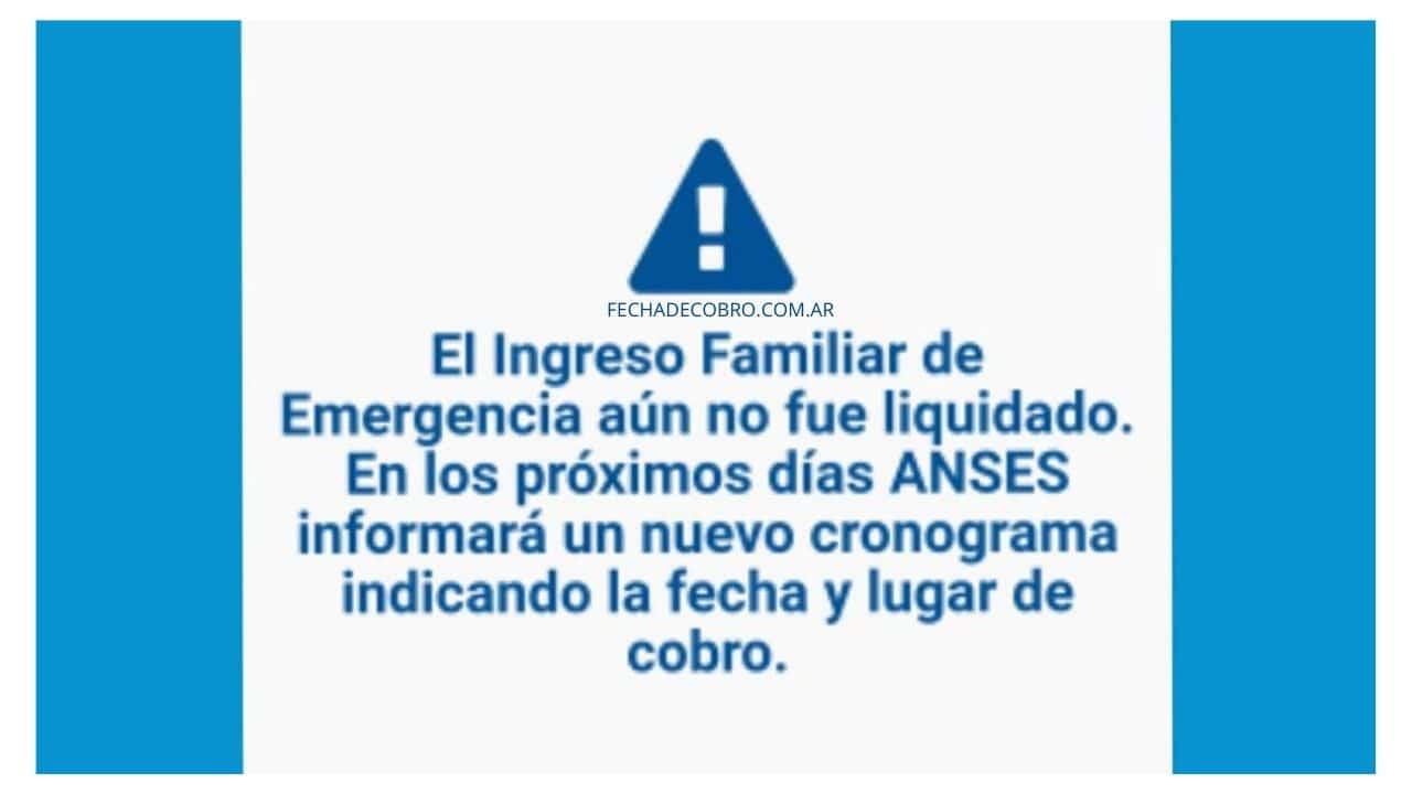 ngreso Familiar de Emergencia aún no fue Liquidado