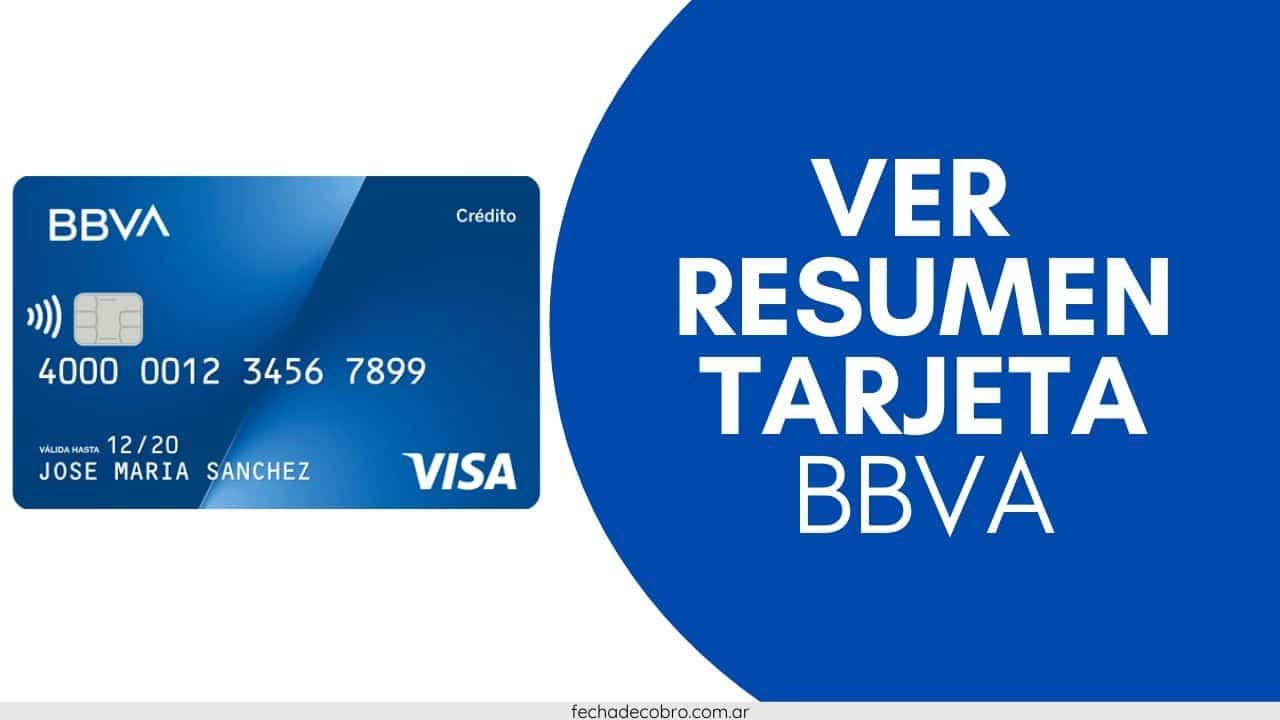 resumen tarjeta de credito visa BBVA