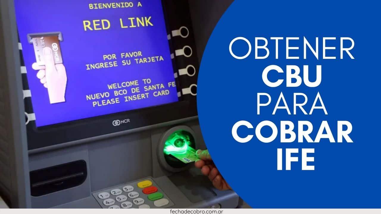 cobrar ife por CBU