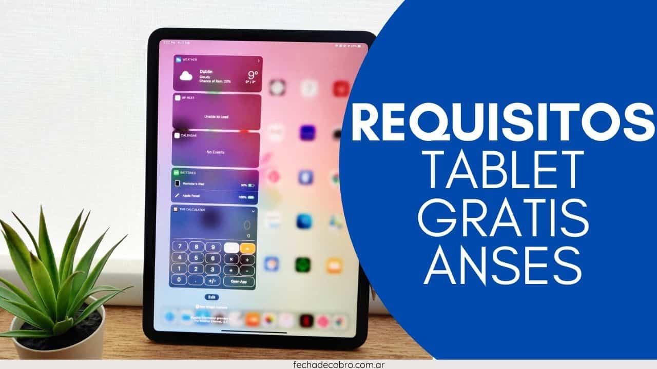 solicitar la tablet gratis de ANSES