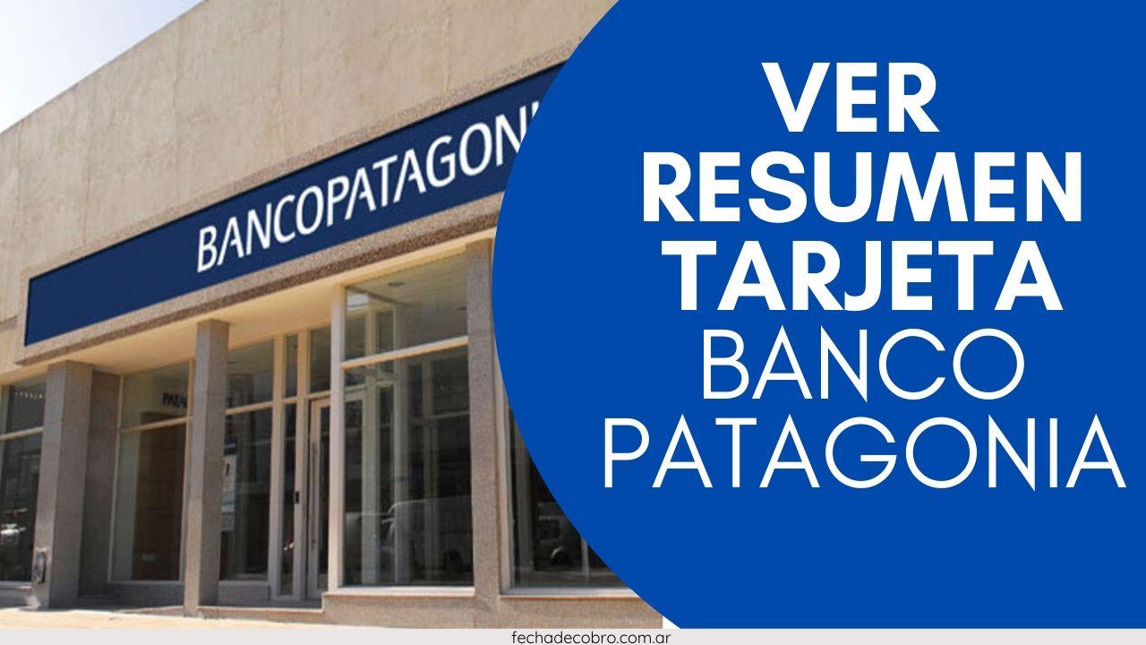 ver el resumen de la tarjeta de credito visa banco patagonia