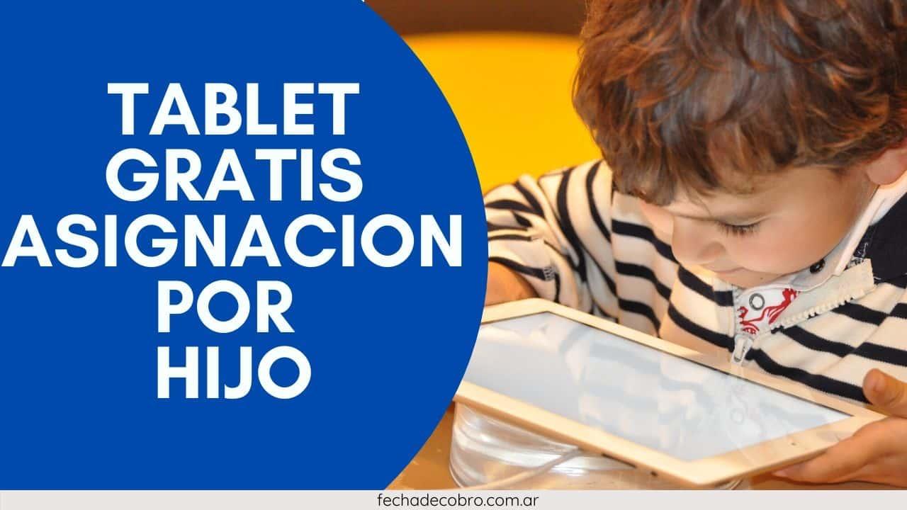 nueva tablet gratis para la AUH
