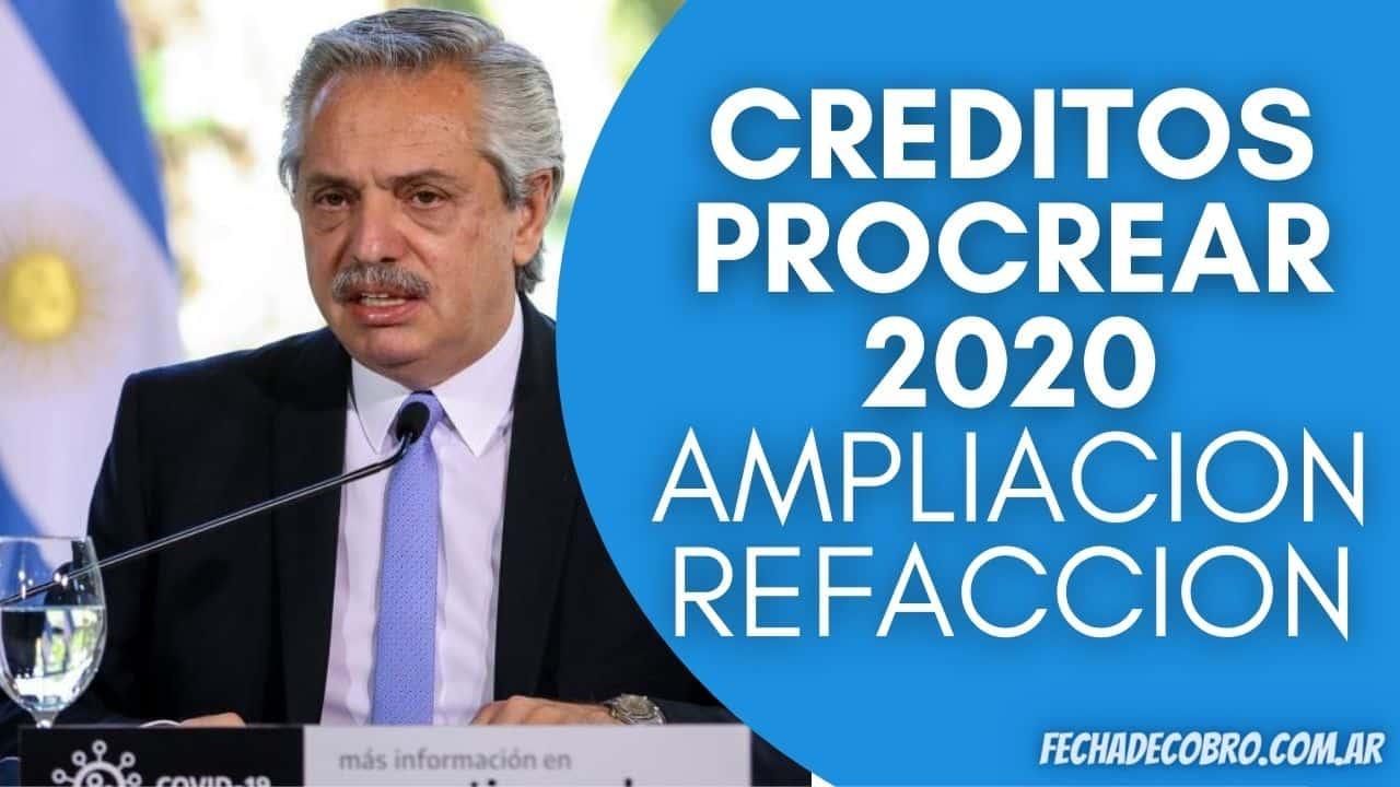 NUEVOS Creditos Procrear 2020