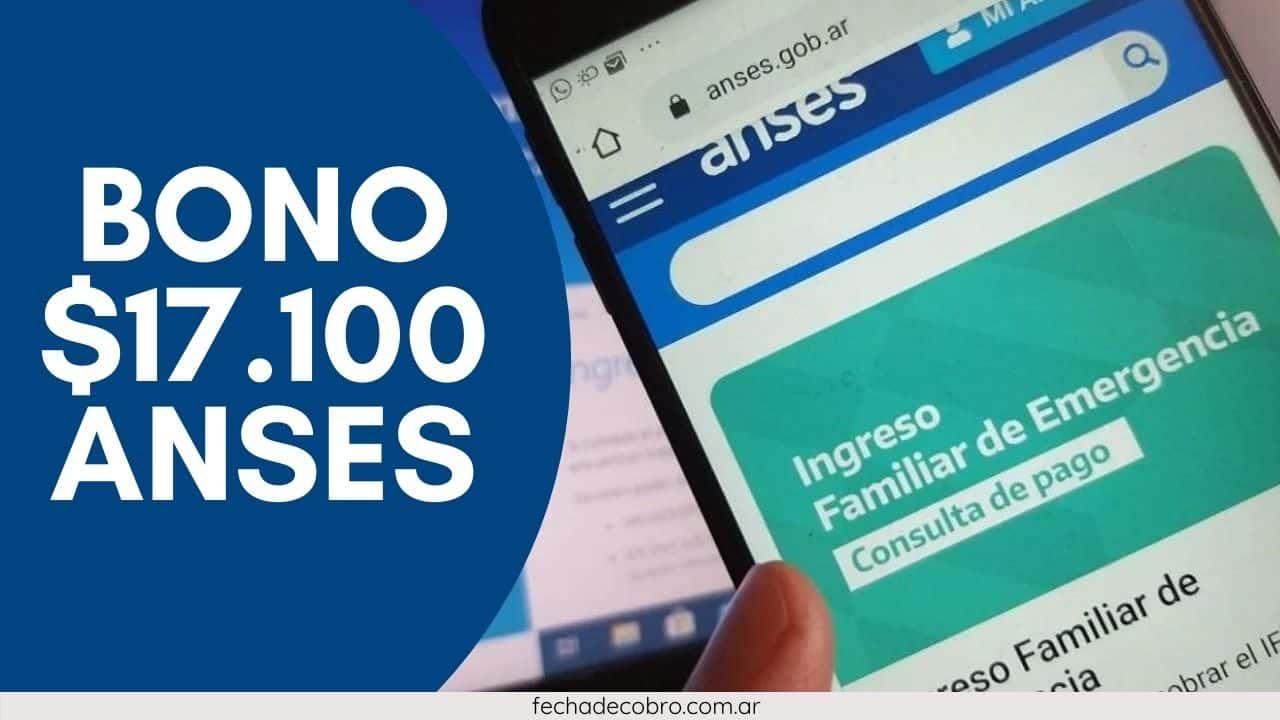 cobrar bono 17000 anses