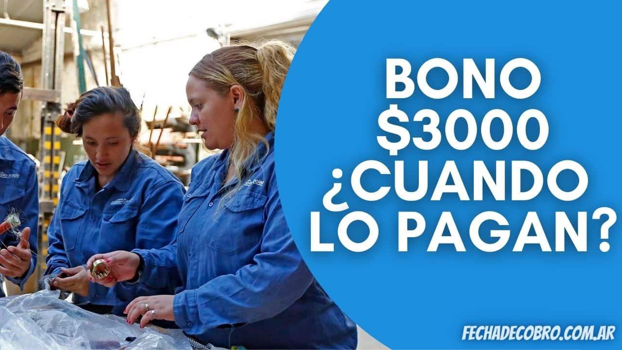 Bono de 3000 Planes Sociales