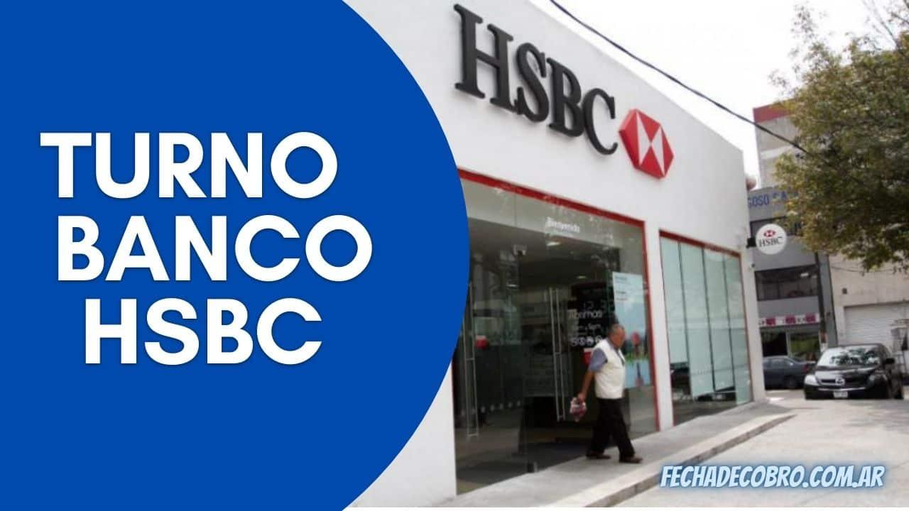 sacar turno en el banco hsbc