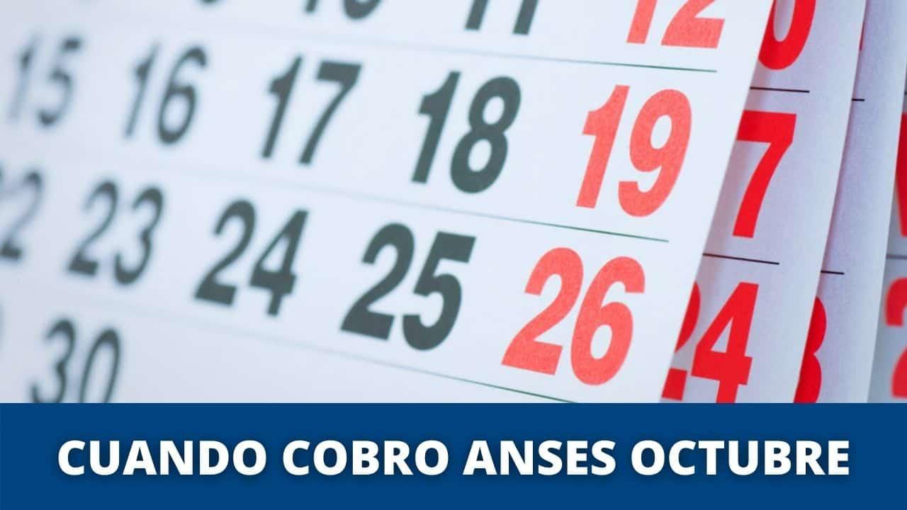 cronograma de cobro anses en octubre
