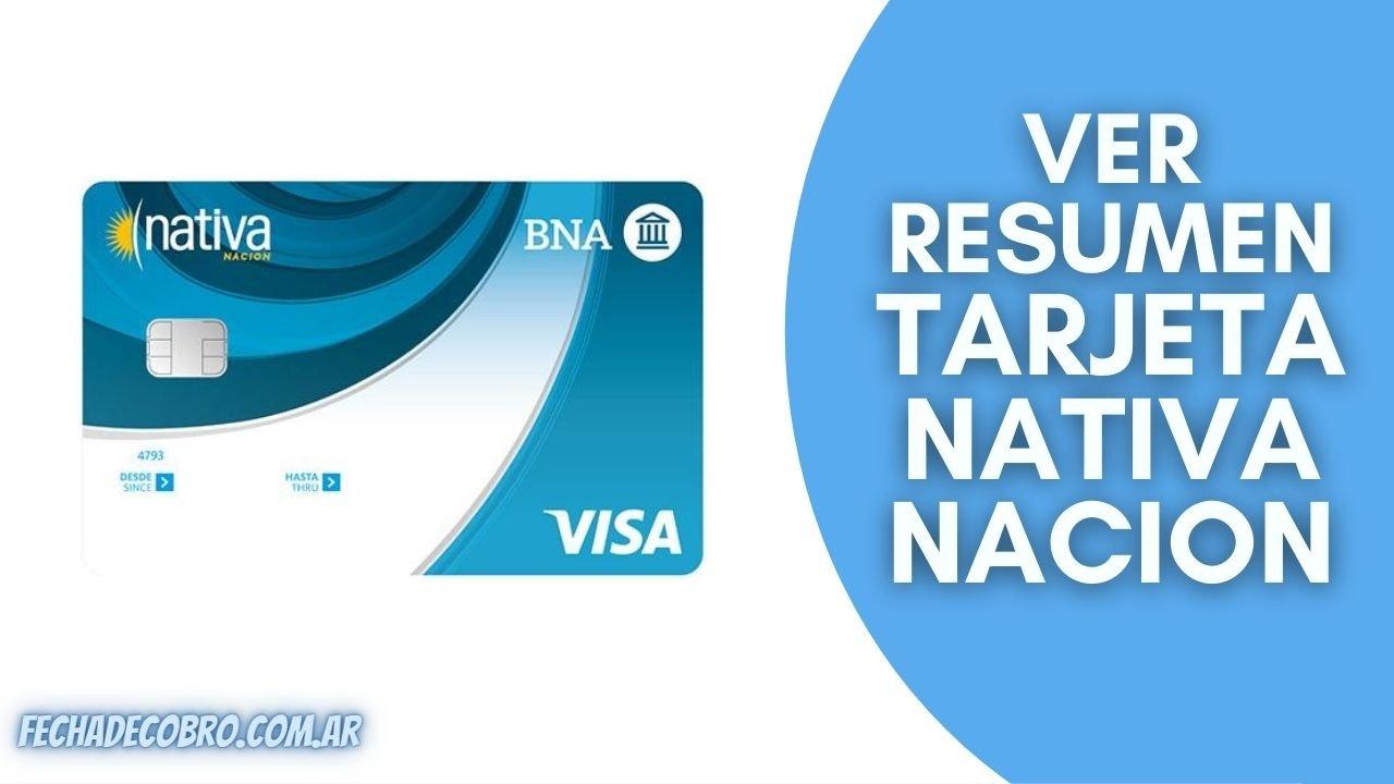 ver resumen de tarjeta nativa nacion