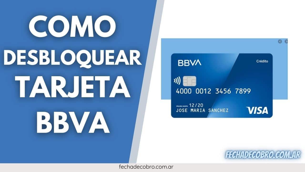 desbloquear tarjeta debito BBVA