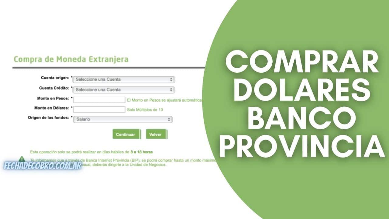 comprar dolares banco provincia