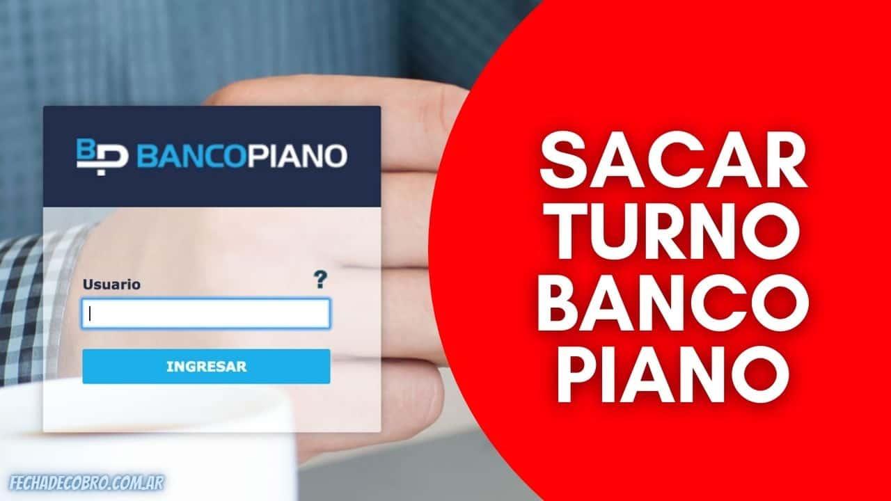 Banco Piano Solicitud de Turnos