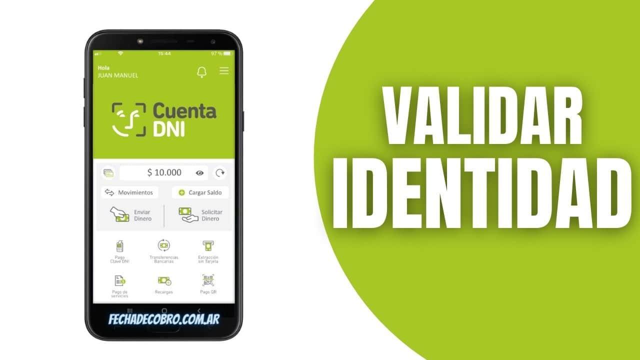 cuenta DNI validar indentidad