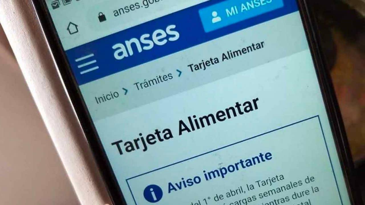 Tarjeta Alimentar para jubilados de ANSES